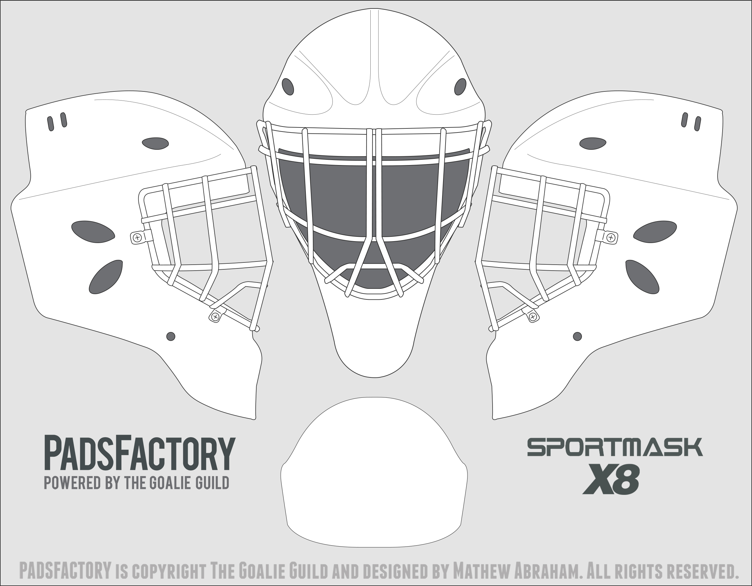 bauer goalie mask template - search results for bauer goalie mask template calendar