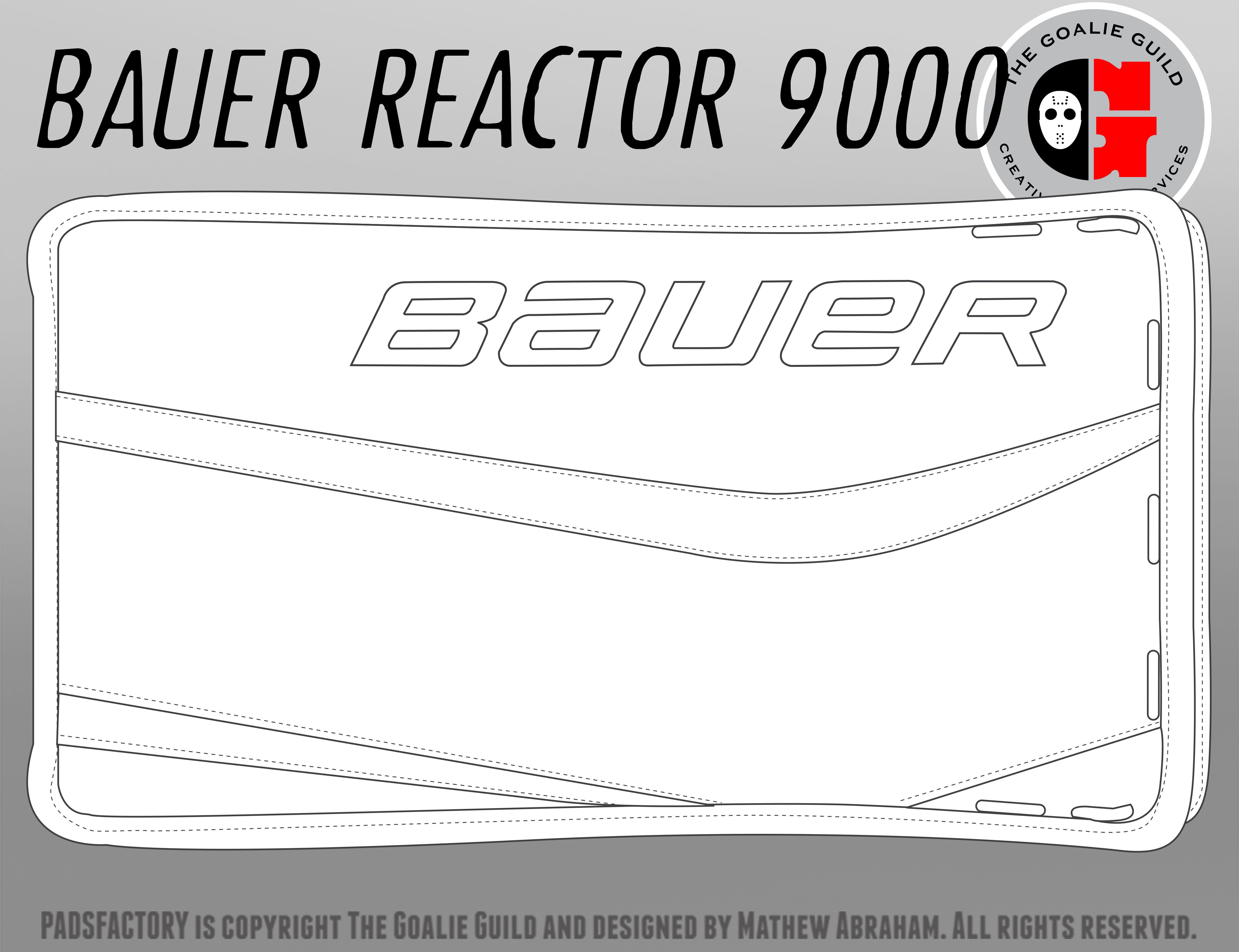 Bauer reactor the goalie guild for Bauer goalie mask template
