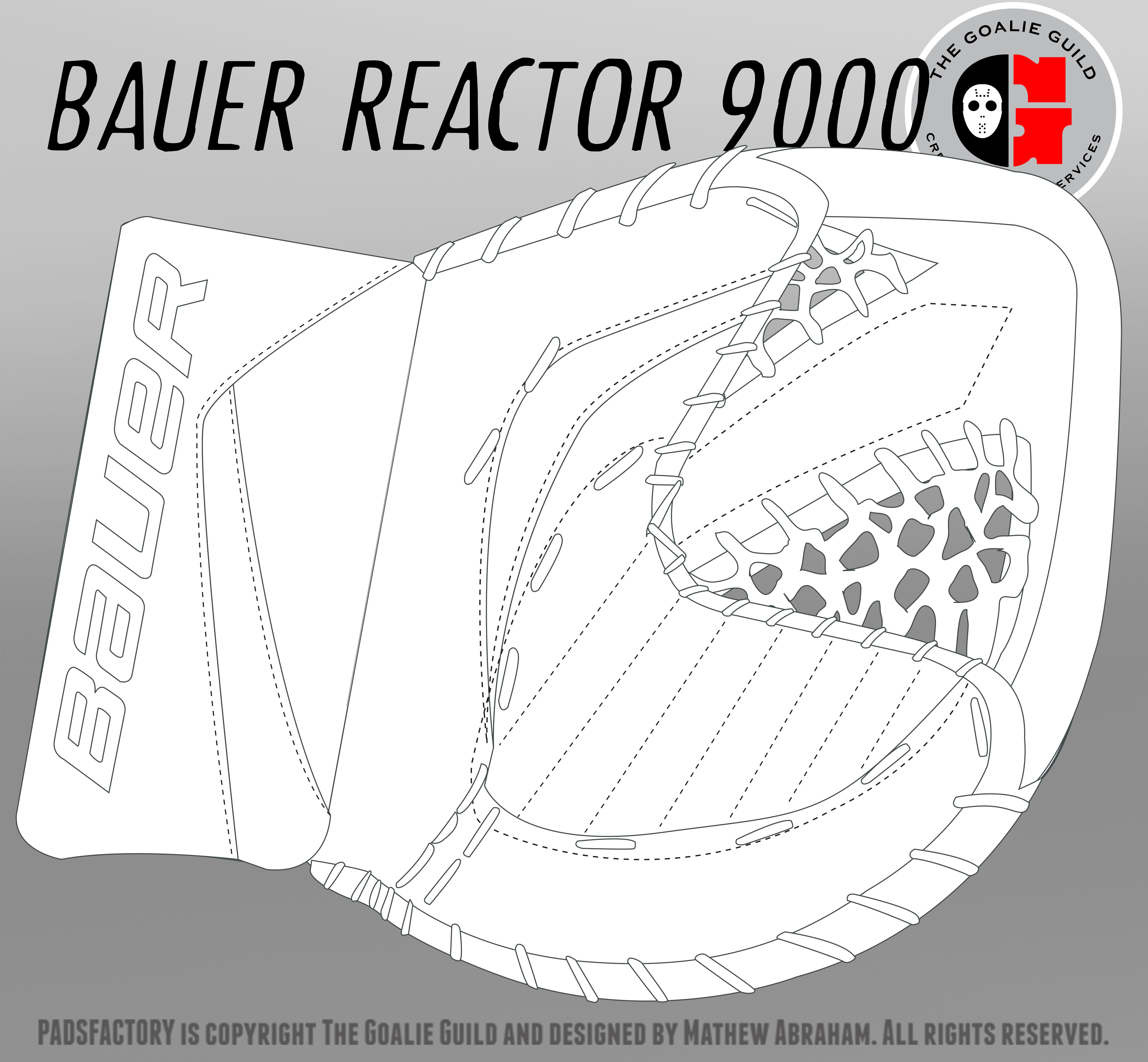 Bauer the goalie guild for Bauer goalie mask template